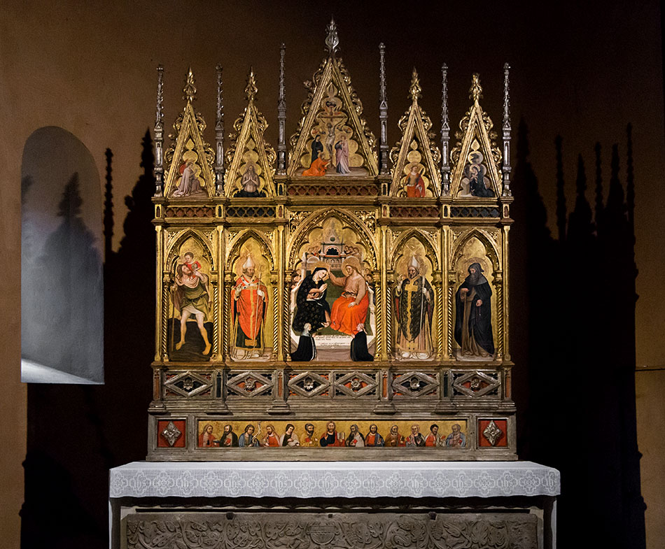 Fabian Fröhlich. Duomo di Parma, Serafino de' Serafini, Polyptych with the Coronation of the Virgin and Saint