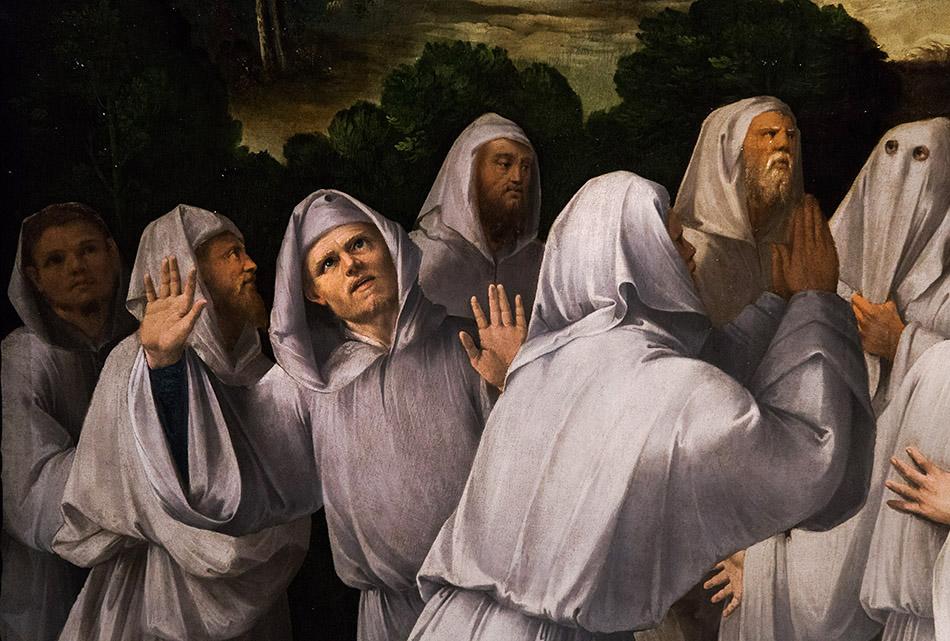 Fabian Fröhlich, Modena, Galleria Estense, Madonna col Bambino, i santi Francesco e Bernardino e confratelli