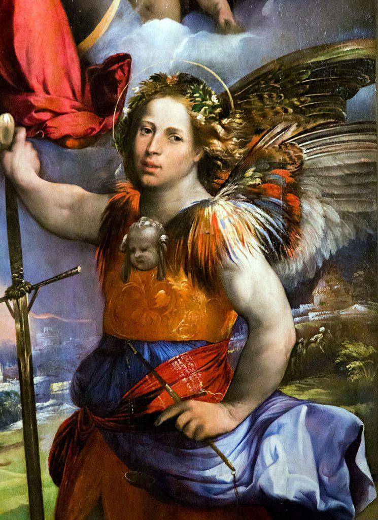 Fabian Fröhlich, Modena, Galleria Estense, Dosso Dossi, Madonna col Bambino tra i santi Giorgio e Michele Arcangelo