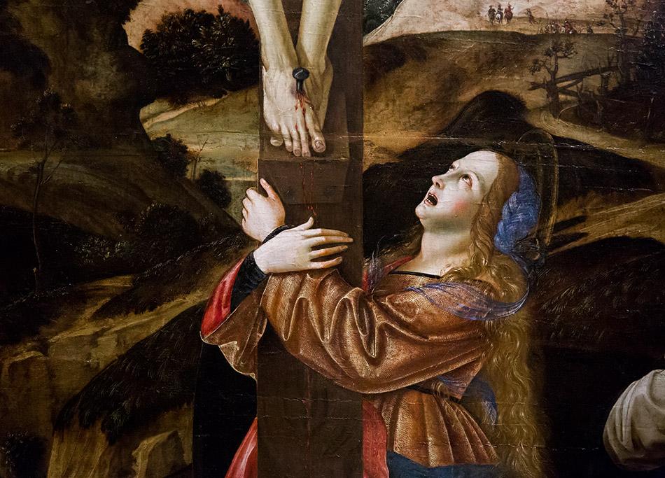 Fabian Fröhlich, Modena, Galleria Estense, Francesco Bianchi Ferrari, Crocifissione con i santi Maddalena, Domenico e Pietro martire