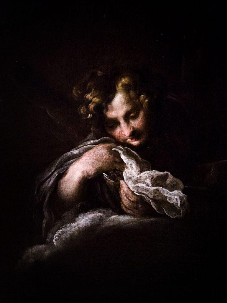 Fabian Fröhlich, Modena, Galleria Estense, Domenico fetti, Angelo su nuvole