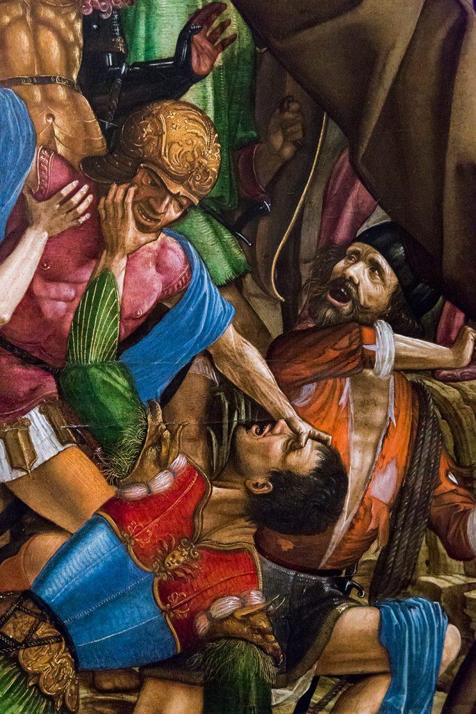 Fabian Fröhlich, Modena, Galleria Estense, Pala delle tre croci (Crocifissione con i santi Girolamo e Francesco)
