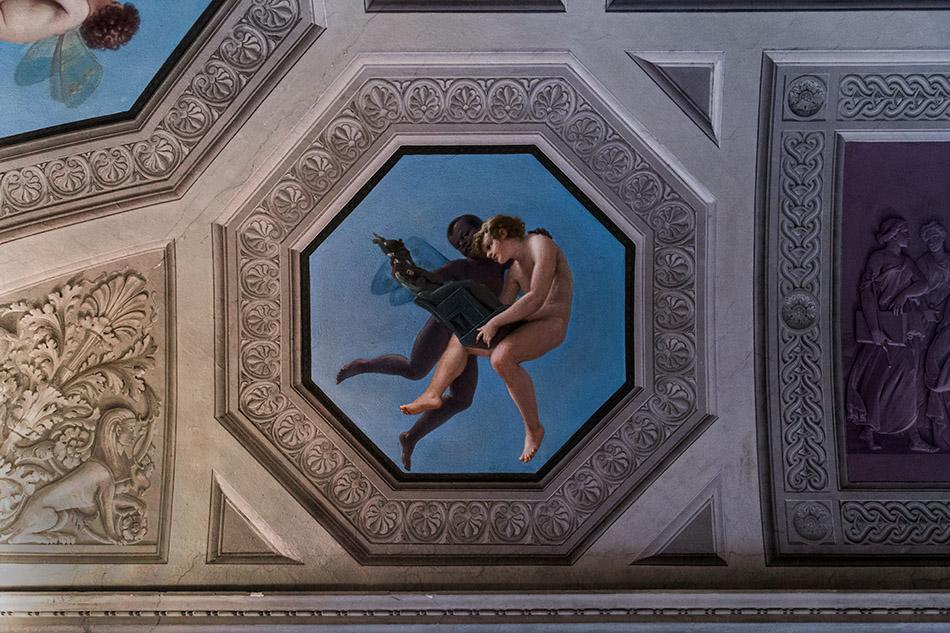 Fabian Fröhlich, Galleria Nazionale di Parma, Palazzo dell Pilotta, Museo Archeologico Nazionale, Sala del Medagliere with frescos by Francesco Scaramuzza