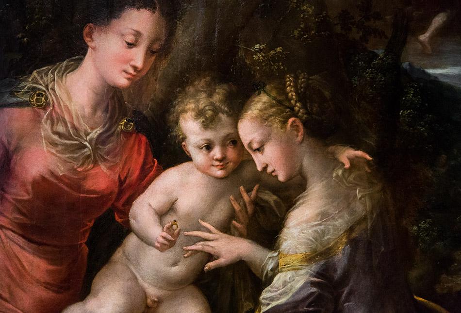 Fabian Fröhlich, Galleria Nazionale di Parma, Palazzo dell Pilotta, Girolama Mazzola Bedoli, The Mystic Marriage of Saint Catherine