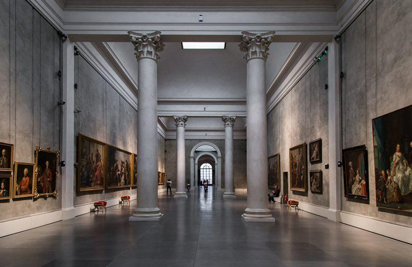 Fabian Fröhlich, Galleria Nazionale di Parma, Palazzo dell Pilotta, Sala delle Colonne