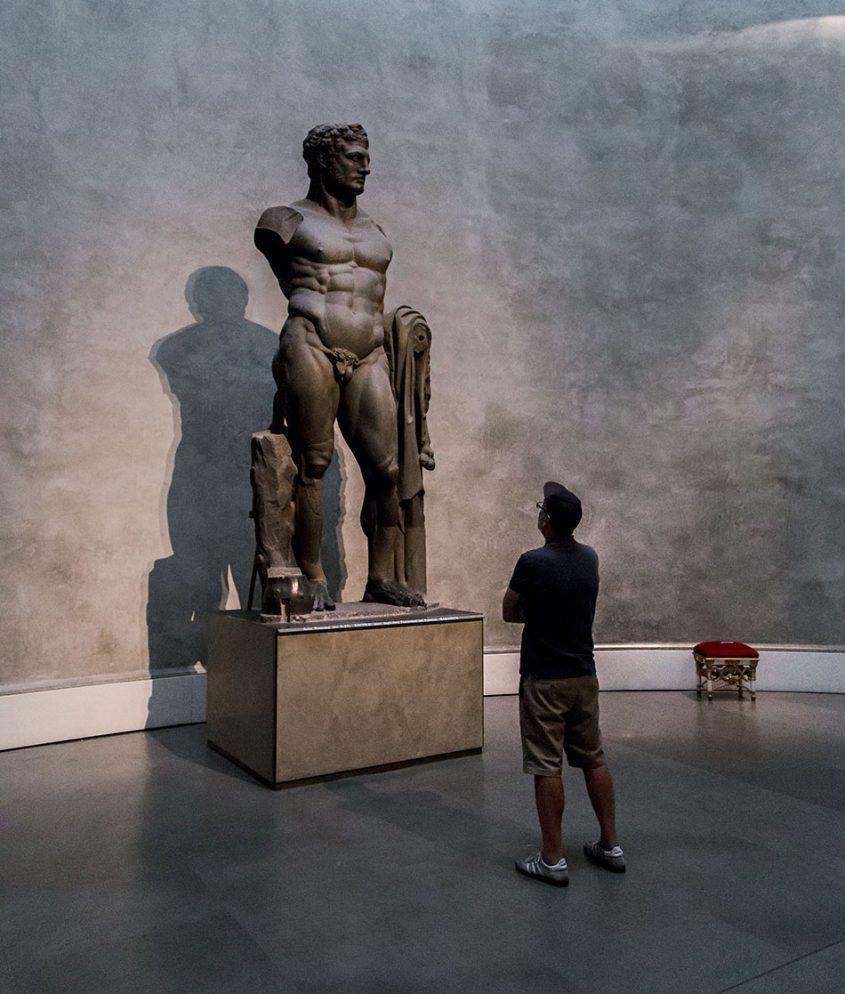 Fabian Fröhlich, Galleria Nazionale di Parma, Palazzo dell Pilotta, Colossal Roman statue of Hercules