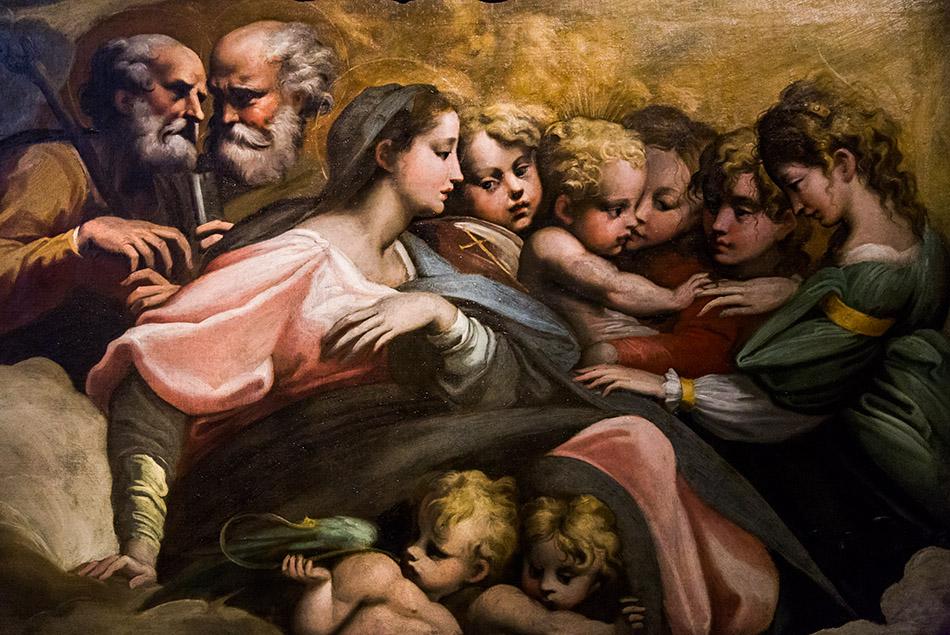 Fabian Fröhlich, Galleria Nazionale di Parma, Palazzo dell Pilotta, Parmigianino (cerchia di), Matrimonio mistico di santa Caterina d'Alessandria