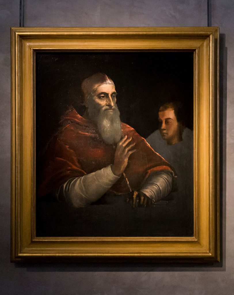 Fabian Fröhlich, Galleria Nazionale di Parma, Palazzo dell Pilotta, Sebastiano del Piombo, Portrait of Paolo III Farnese