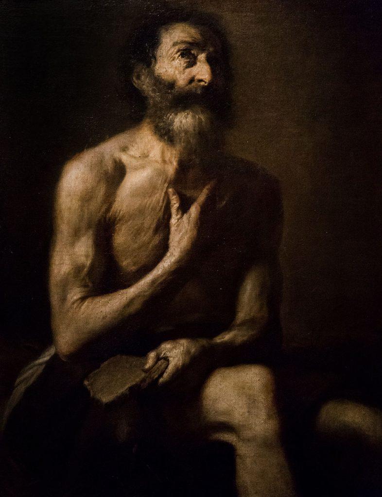 Fabian Fröhlich, Galleria Nazionale di Parma, Palazzo dell Pilotta, Josè de Ribera, Giobbe