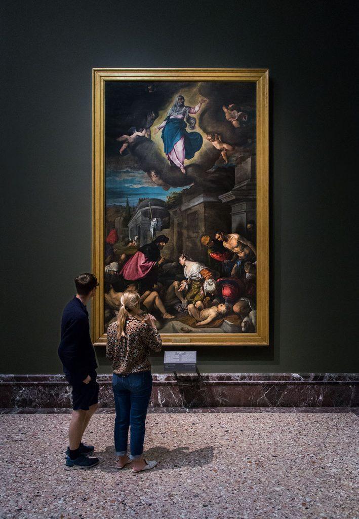 Fabian Fröhlich, Pinacoteca di Brera di Milano, San Rocco visita gli appestati, Jacopo Bassano (Jacopo Da Ponte)