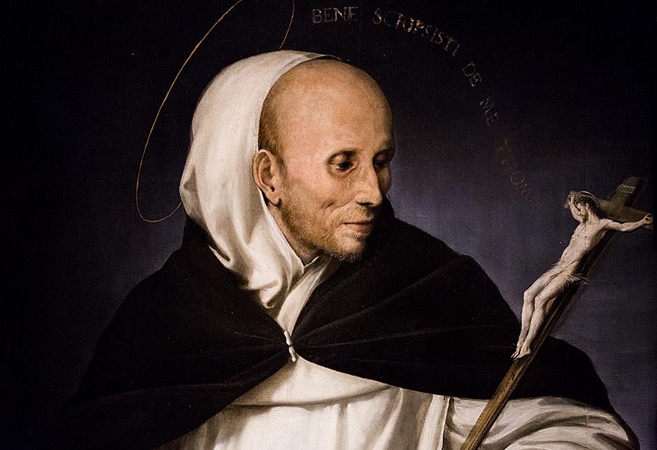 Fabian Fröhlich, Pinacoteca di Brera di Milano, Ritratto di frate in veste di San Tommaso d'Aquino, Girolamo Mazzola Bedoli