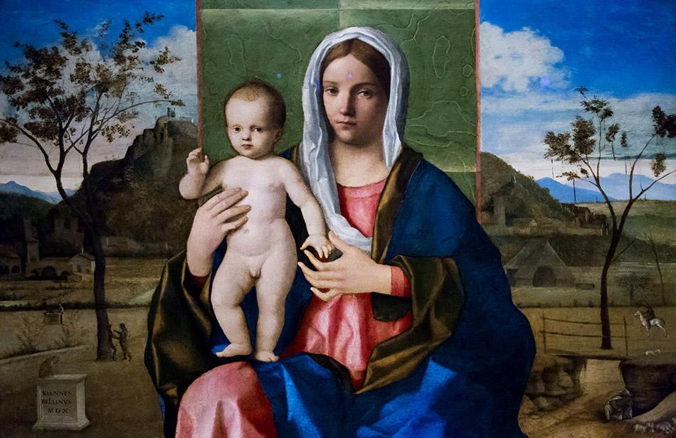 Fabian Fröhlich, Pinacoteca di Brera di Milano, Madonna con il Bambino, Giovanni Bellini