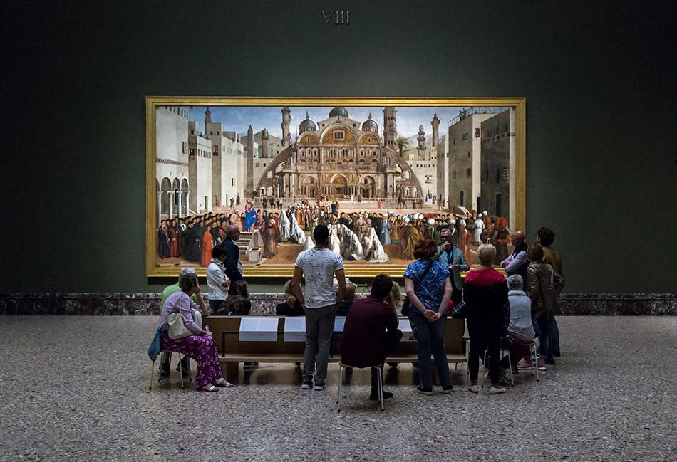 Fabian Fröhlich, Pinacoteca di Brera di Milano, Predica di San Marco in una piazza di Alessandria d'Egitto, Gentile Bellini e Giovanni Bellini