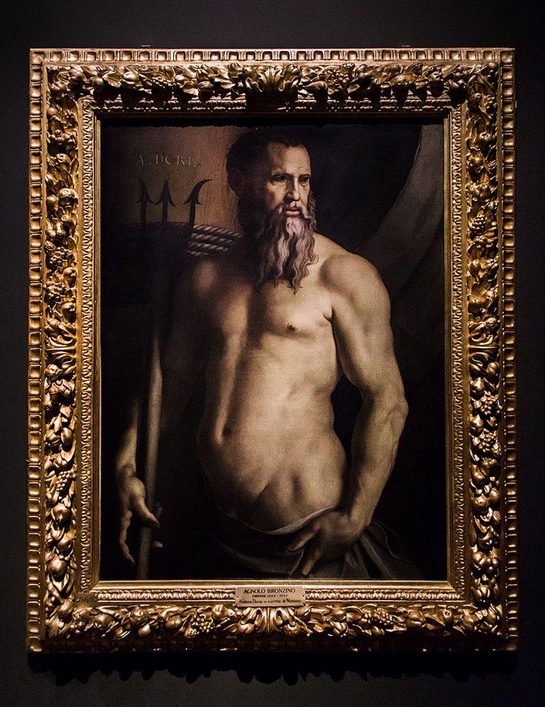 Fabian Fröhlich, Pinacoteca di Brera di Milano, Ritratto di Andrea Doria come Nettuno, Bronzino (Agnolo di Cosimo)