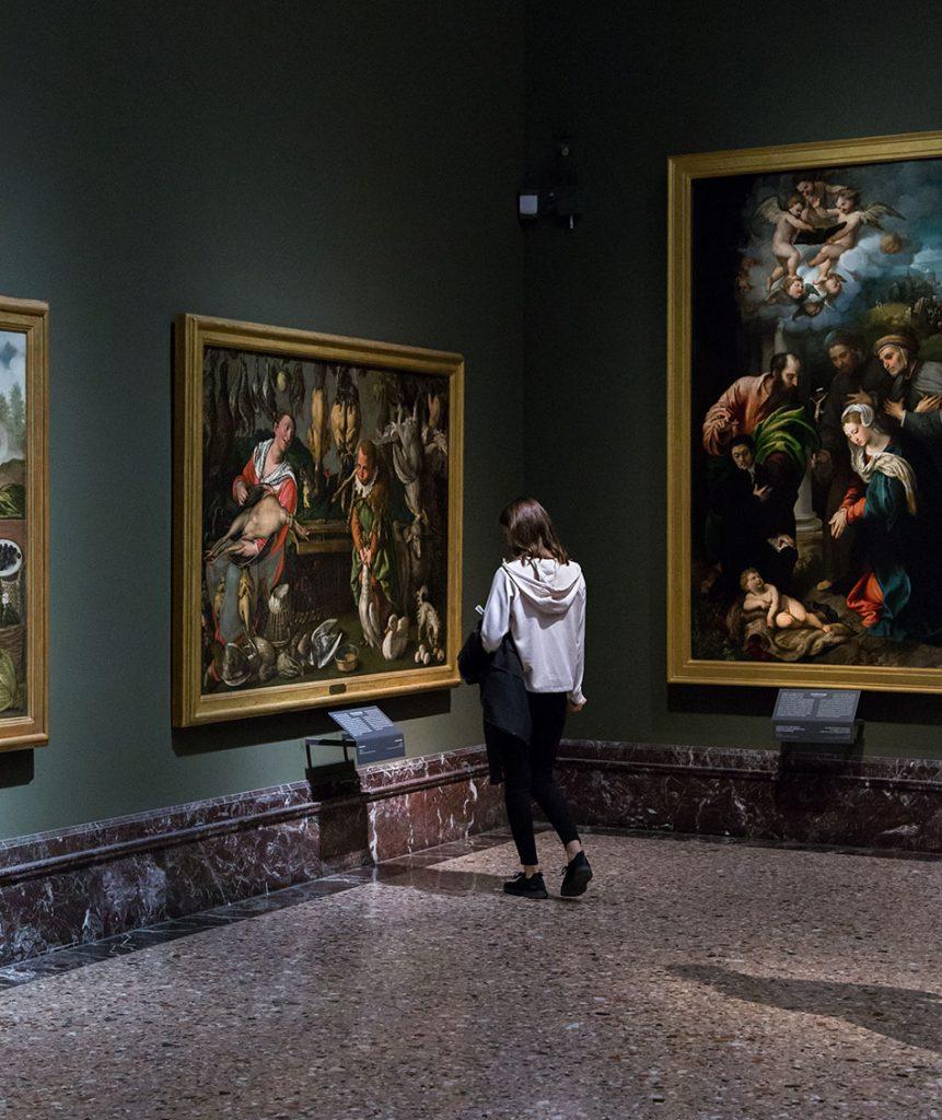 Fabian Fröhlich, Pinacoteca di Brera di Milano, Pollivendoli, Vincenzo Campi, Giulio Campi, La Natività