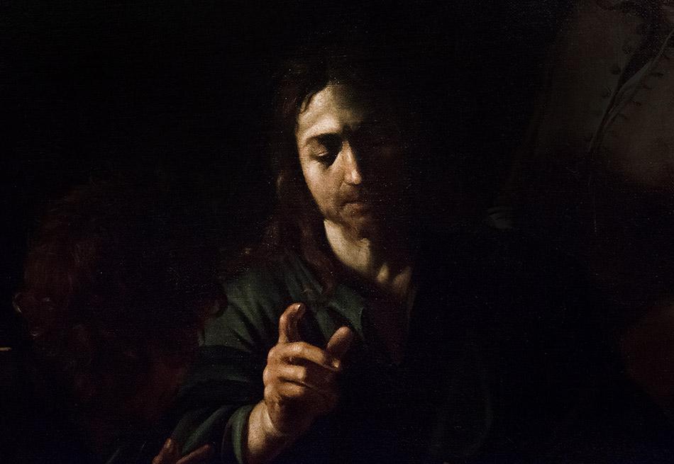 Fabian Fröhlich, Pinacoteca di Brera di Milano, Cena in Emmaus, Caravaggio (Michelangelo Merisi)