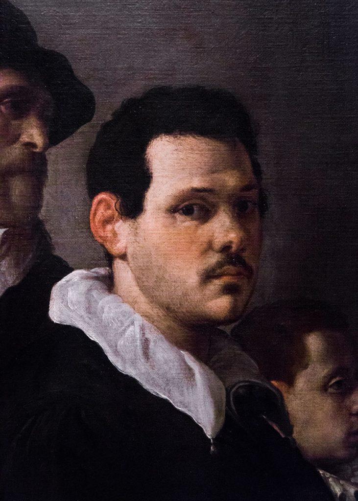 Fabian Fröhlich, Pinacoteca di Brera di Milano, Autoritratto con altre figure, Annibale Carracci