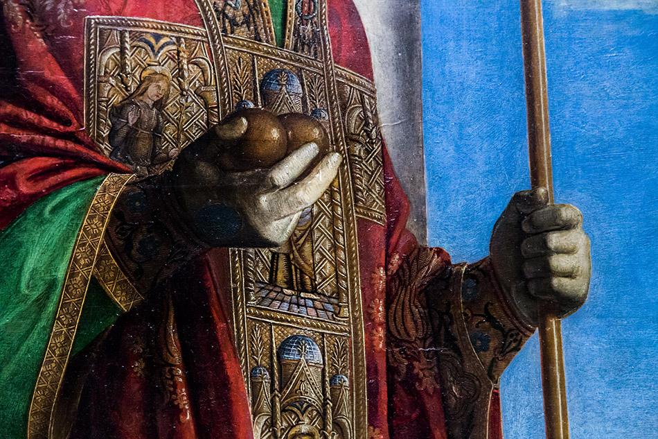 Fabian Fröhlich, Pinacoteca di Brera di Milano, San Pietro martire con i Santi Nicola di Bari e Benedetto, Cima da Conegliano