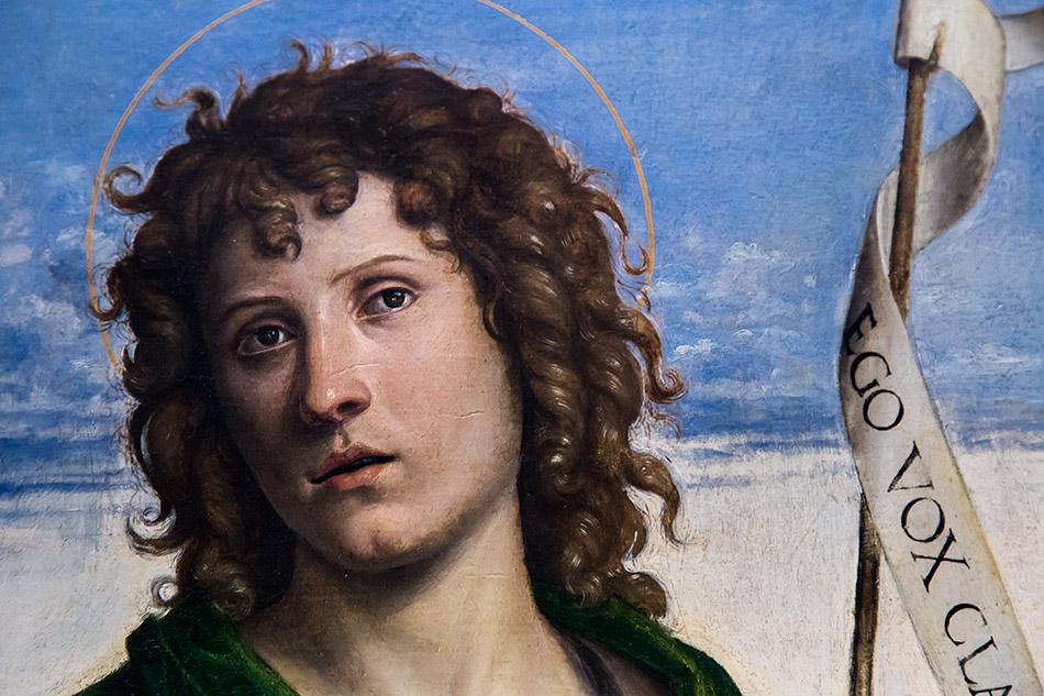 Fabian Fröhlich, Pinacoteca di Brera di Milano, San Pietro in trono con San Giovanni Battista e San Paolo, Cima da Conegliano