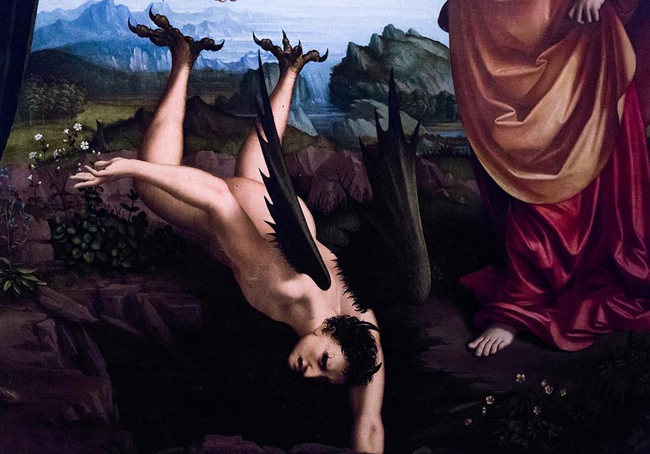 Fabian Fröhlich, Pinacoteca di Brera di Milano, Marco d'Oggiono,I tre arcangeli Marco d'Oggiono