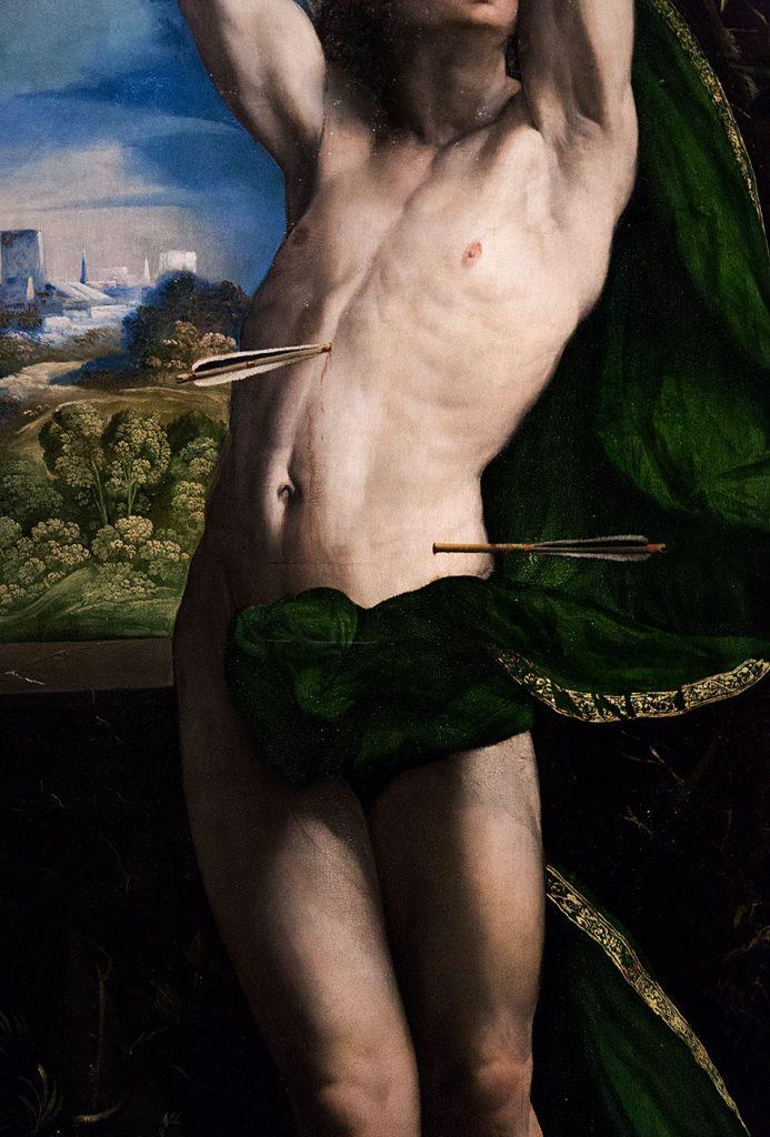 Fabian Fröhlich, Pinacoteca di Brera di Milano, Dosso Dossi (Giovanni di Nicolò Luteri), San Sebastiano