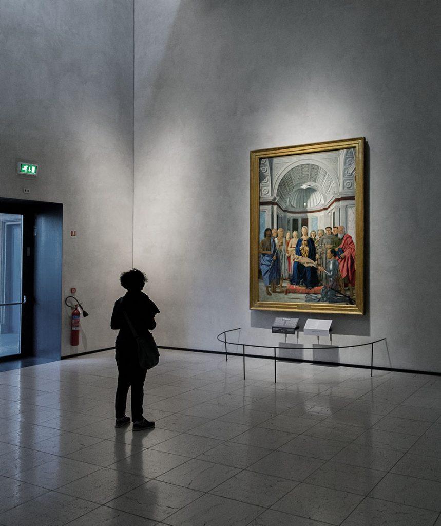 Fabian Fröhlich, Pinacoteca di Brera di Milano, Madonna col Bambino e santi, angeli e Federico da Montefeltro (Pala di San Bernardino), Francesco della Francesca