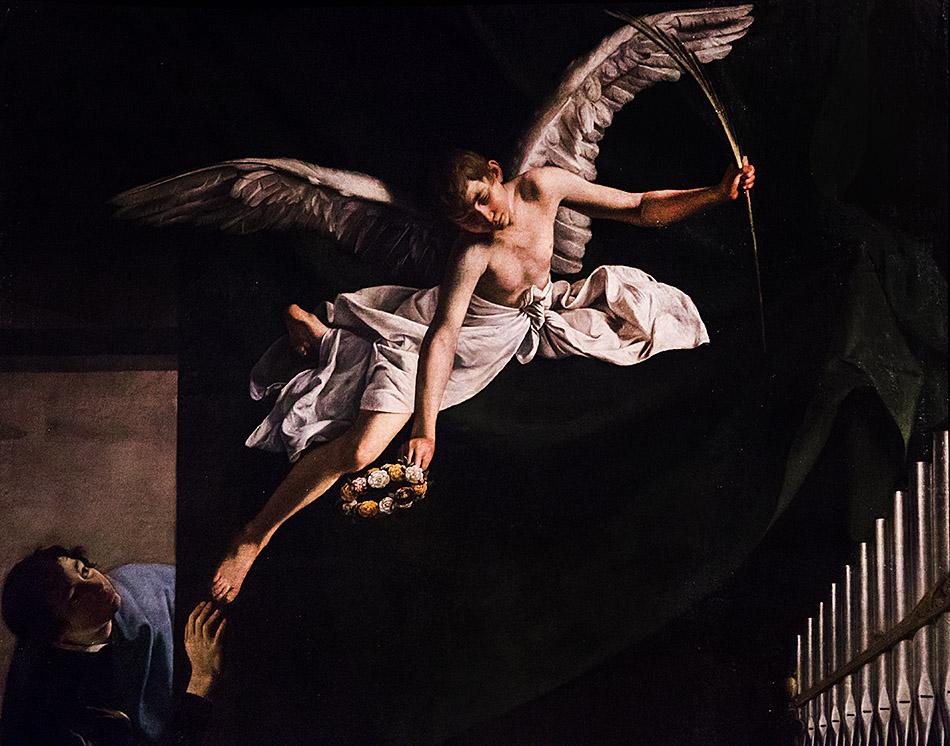 Fabian Fröhlich, Pinacoteca di Brera di Milano, Orazio Gentileschi, I Santi martiri Cecilia, Valeriano e Tiburzio visitati dall'angelo