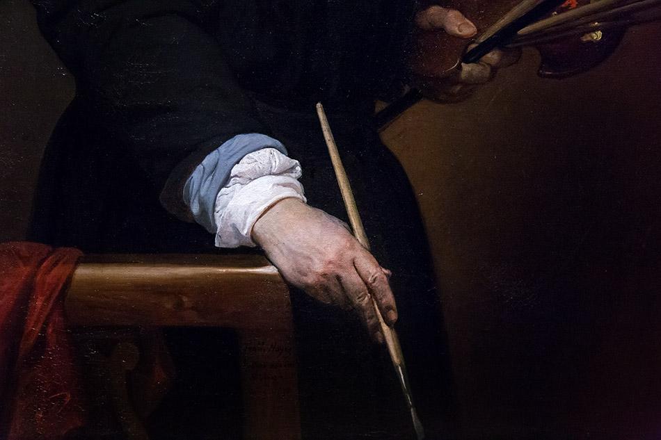 Fabian Fröhlich, Pinacoteca di Brera di Milano, Francesco Hayez, Autoritratto a cinquantasette anni