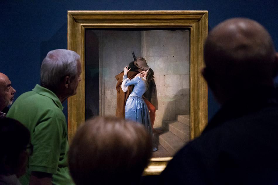 Fabian Fröhlich, Pinacoteca di Brera di Milano, Francesco Hayez, Il bacio