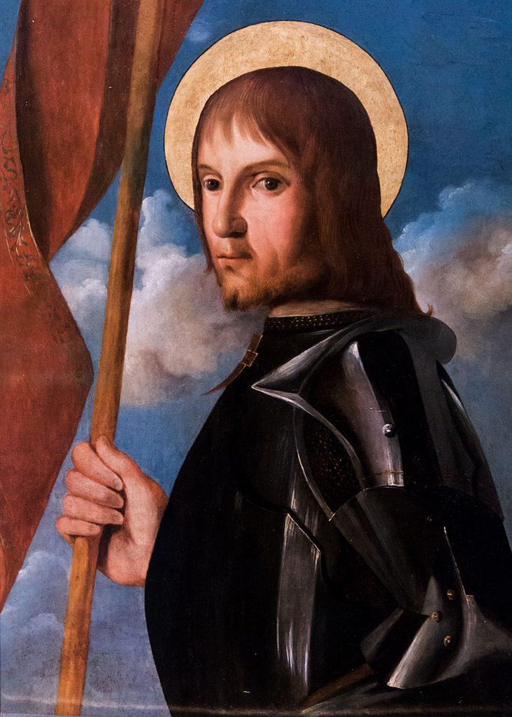 Fabian Fröhlich, Pinacoteca di Brera di Milano, Johannes Hispanus, Santo guerriero