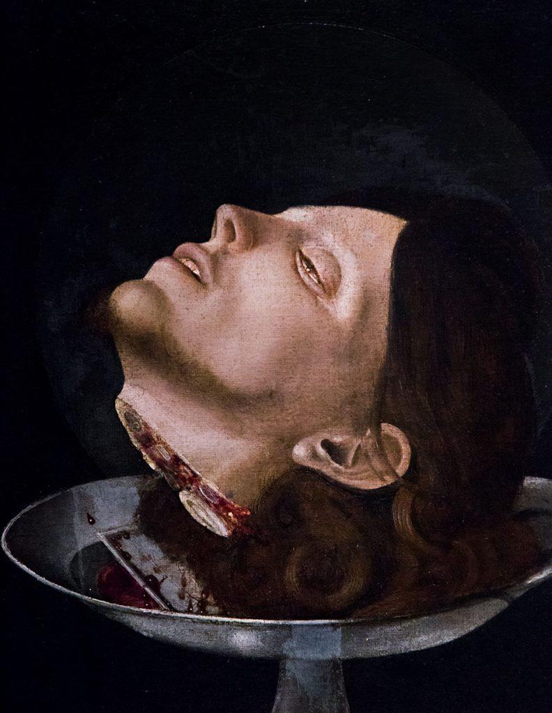 Fabian Fröhlich, Pinacoteca di Brera di Milano, Giovan Francesco Maineri, Testa di San Giovanni Battista