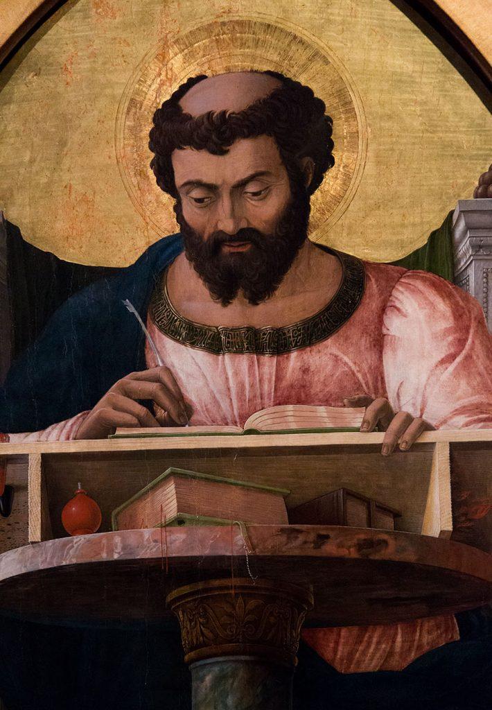 Fabian Fröhlich, Pinacoteca di Brera di Milano, Andrea mantegna, Polittico di San Luca