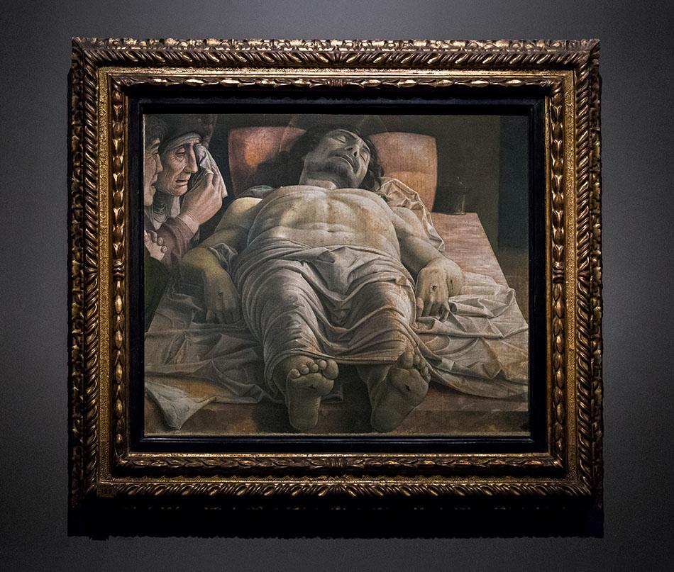 Fabian Fröhlich, Pinacoteca di Brera di Milano, Andrea Mantegna, Cristo morto nel sepolcro e tre dolenti