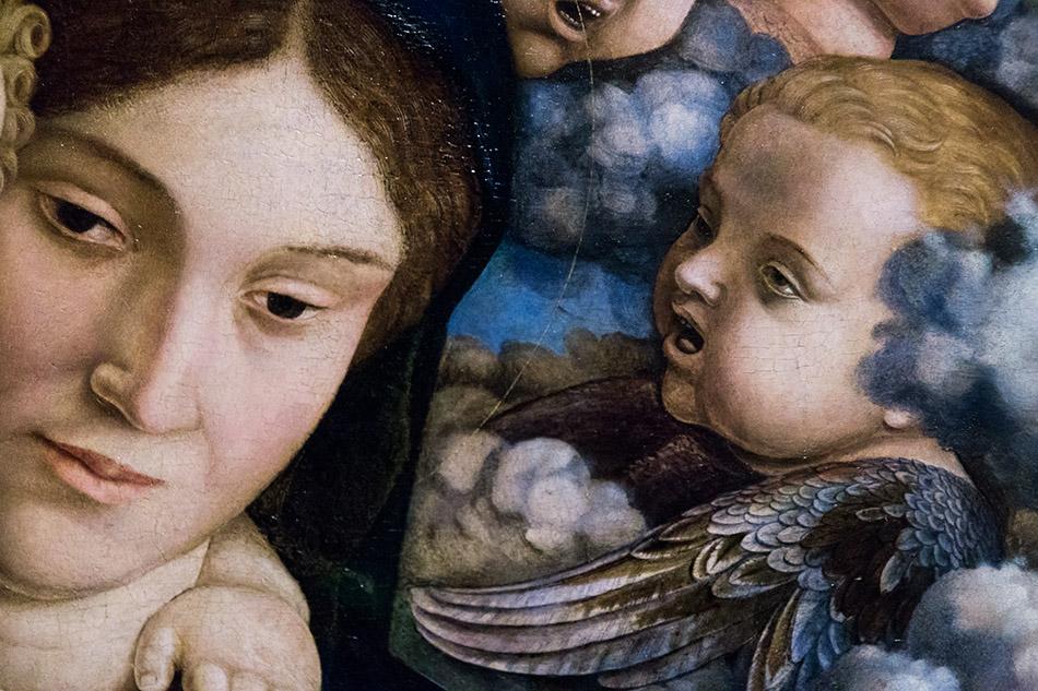 Fabian Fröhlich, Pinacoteca di Brera di Milano, Andrea mantegna, Madonna con il Bambino e coro di cherubini (Madonna dei Cherubini)