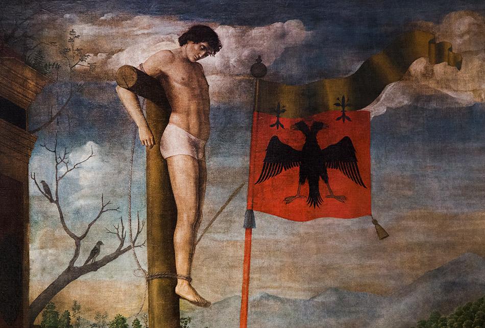 Fabian Fröhlich, Pinacoteca di Brera di Milano, Michele da Verona, Crocifissione