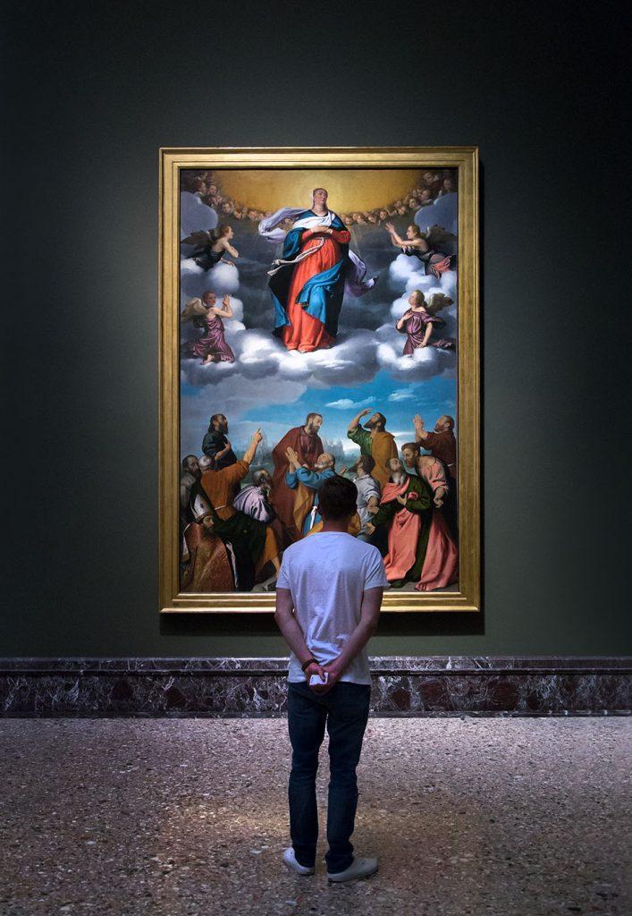 Fabian Fröhlich, Pinacoteca di Brera di Milano, Giovan Battista Moroni, Assunzione della Vergine