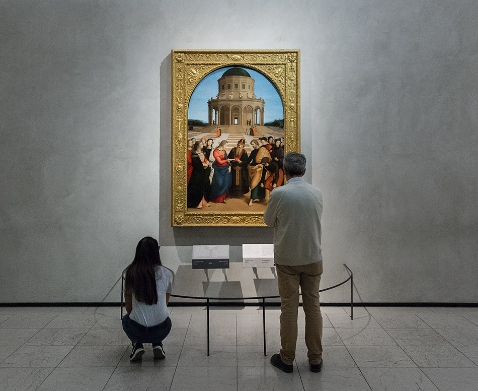 Fabian Fröhlich, Pinacoteca di Brera di Milano, Sposalizio della Vergine, Raffaello Sanzio
