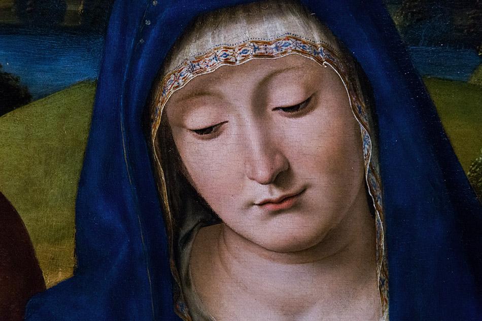Fabian Fröhlich, Pinacoteca di Brera di Milano, Andrea Solario, Madonna con il Bambino e i Santi Giuseppe e Simeone