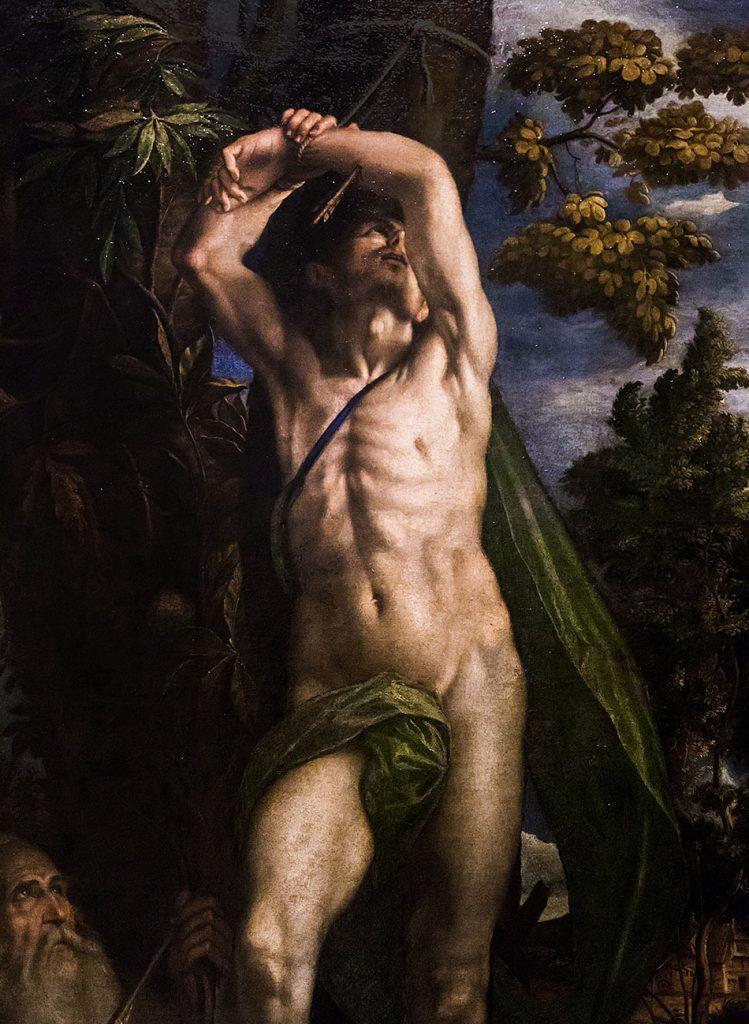 Fabian Fröhlich, Castello Sforzesco Milano, Pinacoteca, Antonio Campi, Saint Sebastian
