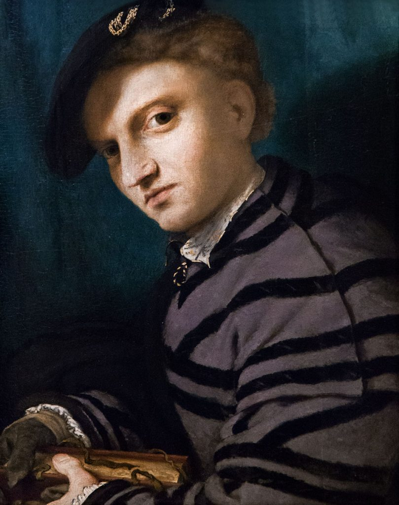 Fabian Fröhlich, Castello Sforzesco Milano, Pinacoteca, Lorenzo Lotoo, Portrait of a Young Man with a Book