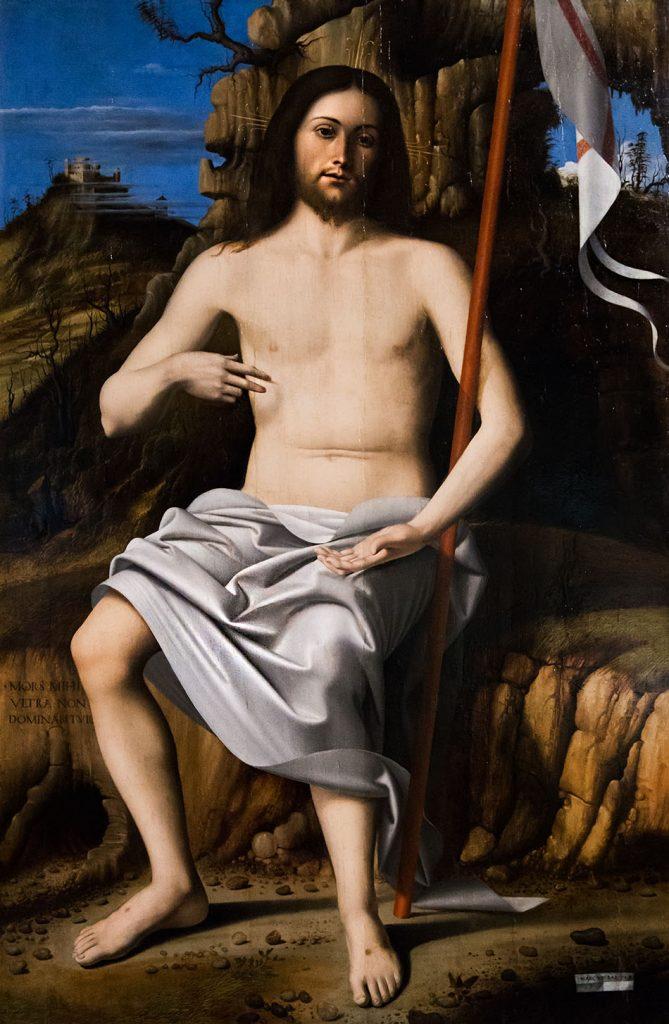 Fabian Fröhlich, Pinacoteca Ambrosiana, Milano, Marco Basaiti, Christ Resurrected
