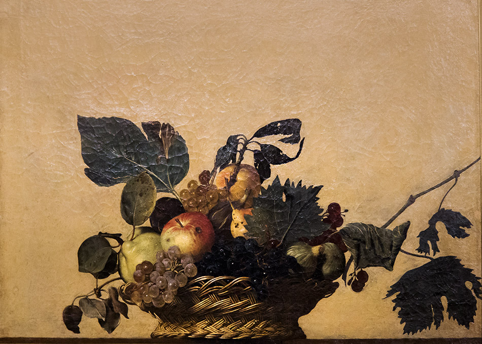 Fabian Fröhlich, Pinacoteca Ambrosiana, Milano, Caravaggio, Basket of Fruits