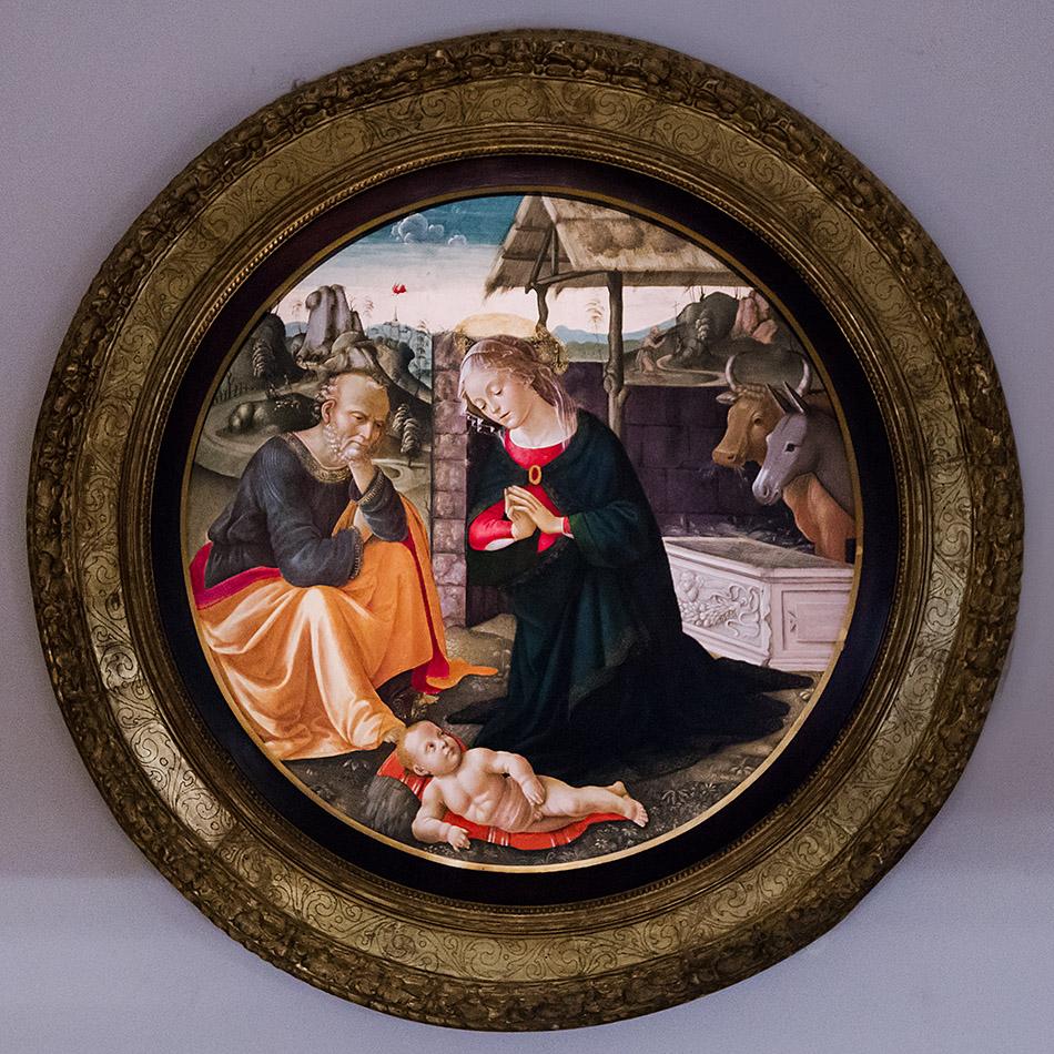 Fabian Fröhlich, Pinacoteca Ambrosiana, Milano, Domenico Ghirlandaio, Adoration of the Child