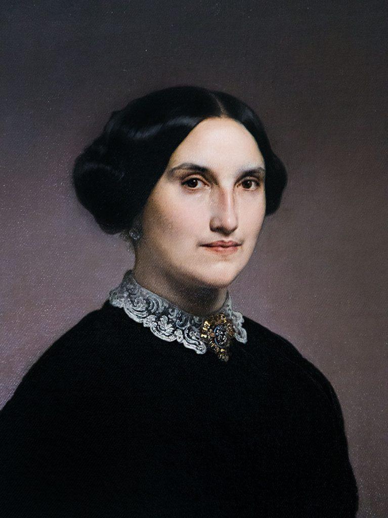 Fabian Fröhlich, Pinacoteca Ambrosiana, Milano, Francesco Hayez, Portrait of Giuseppina Negroni Prati Morosini