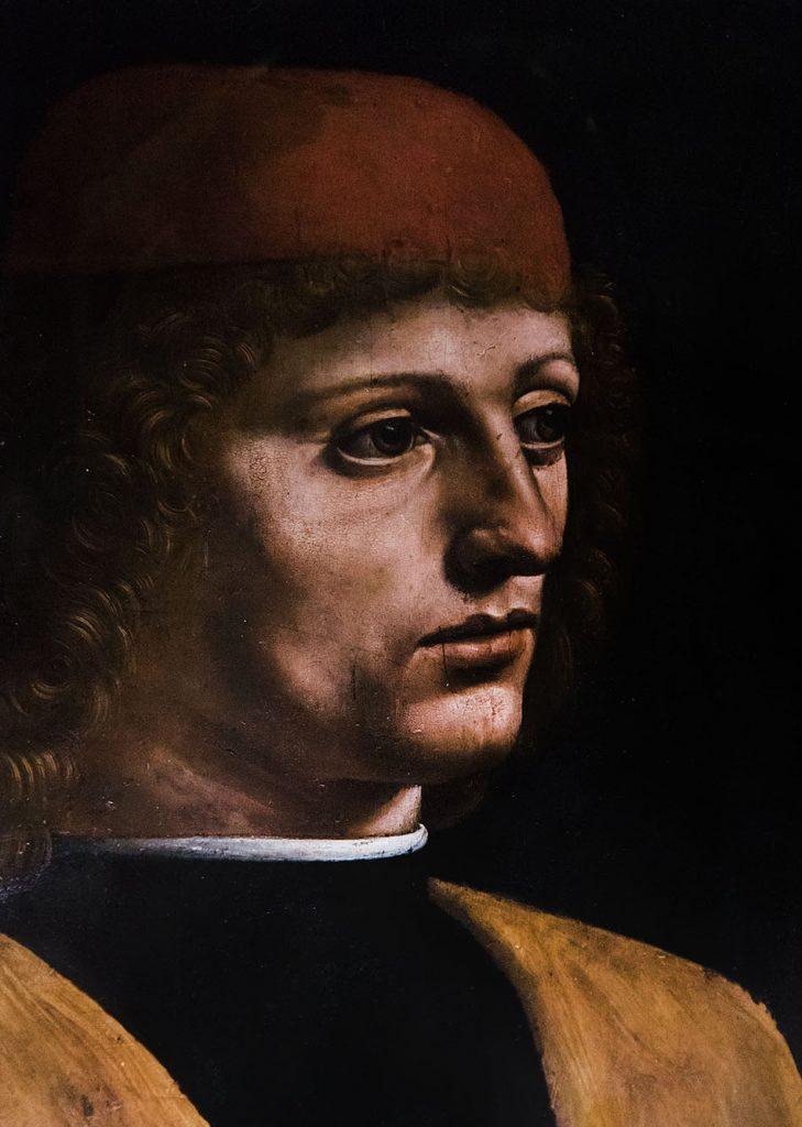 Fabian Fröhlich, Pinacoteca Ambrosiana, Milano, Leonardo da Vinci, Portrait of a Musician