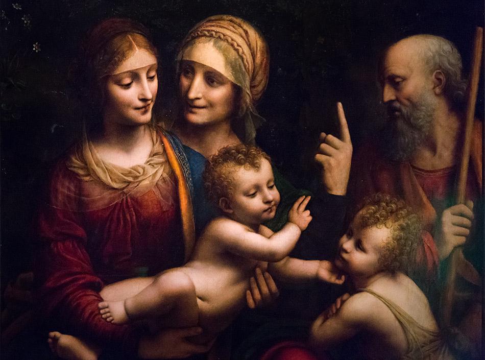 Fabian Fröhlich, Pinacoteca Ambrosiana, Milano, Bernardino Luini, The Holy Family with Saints Anne and John