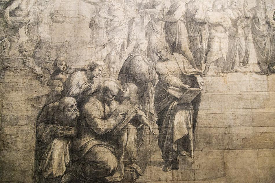 Fabian Fröhlich, Pinacoteca Ambrosiana, Milano, Raphael, Cartoon for the School of Athens