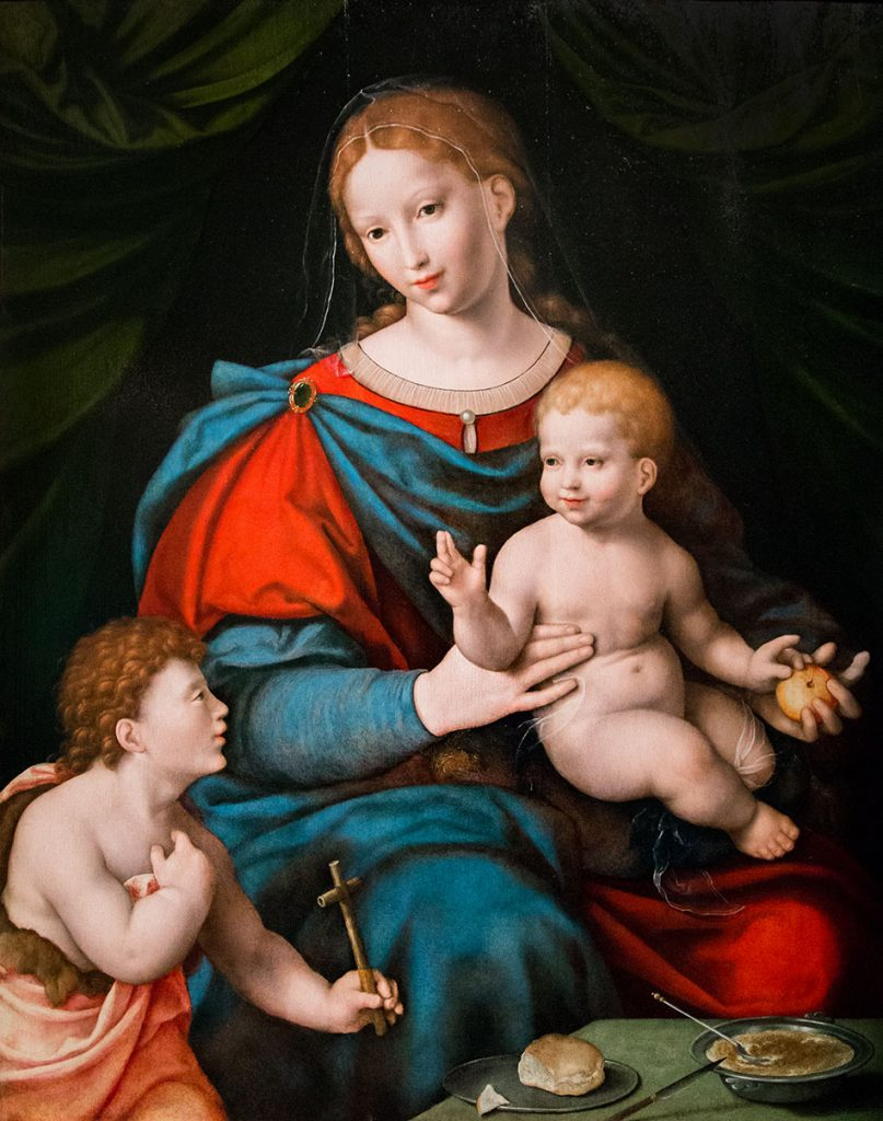 Fabian Fröhlich, Pinacoteca Ambrosiana, Milano, Cornelis van Cléve, Madonna and Child with the Infant Saint John the Baptist