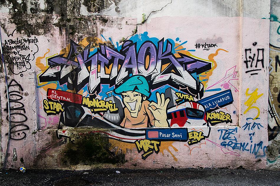 Fabian Fröhlich, Kuala Lumpur, Graffito near Pasar Seni