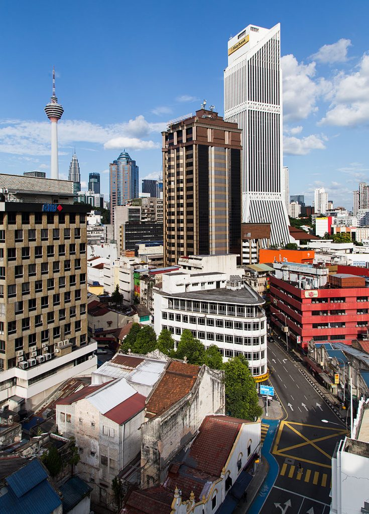 Fabian Fröhlich, Kuala Lumpur, View from Pacific Express Hotel to Menara KL and Maybank Tower
